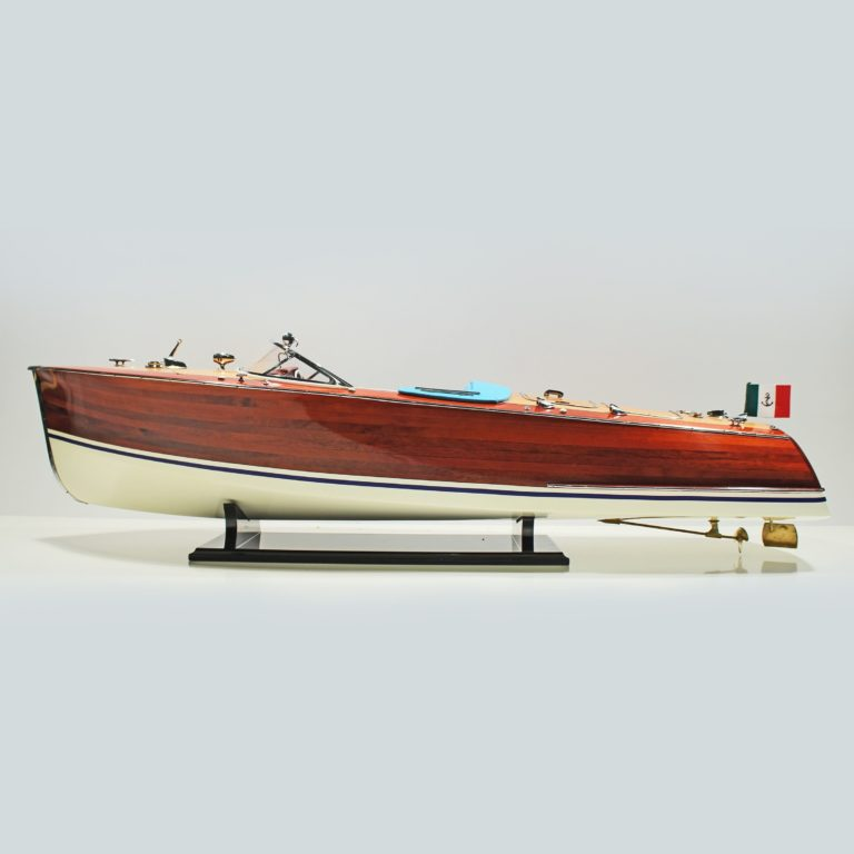 Handmade historical sailing ship model of the Riva Tritone