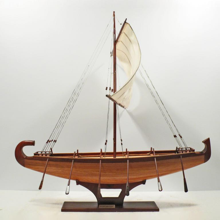 Handcrafted ship model from wood of the egypt baots