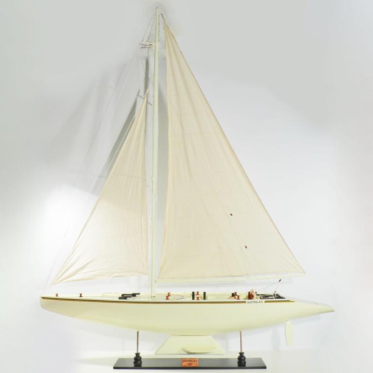 Handcrafted sailing ship model of the Australia 2