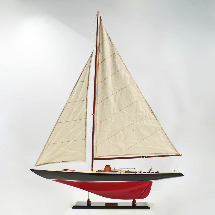 Handcrafted sailing ship model of the Columbia