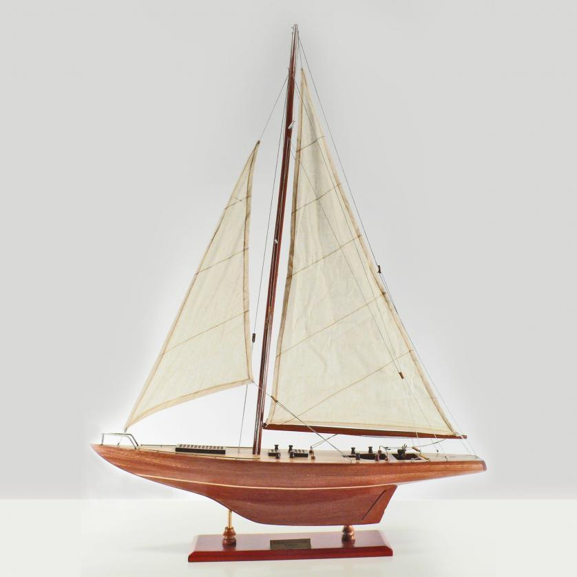 Handcrafted sailing ship model of the Constellation
