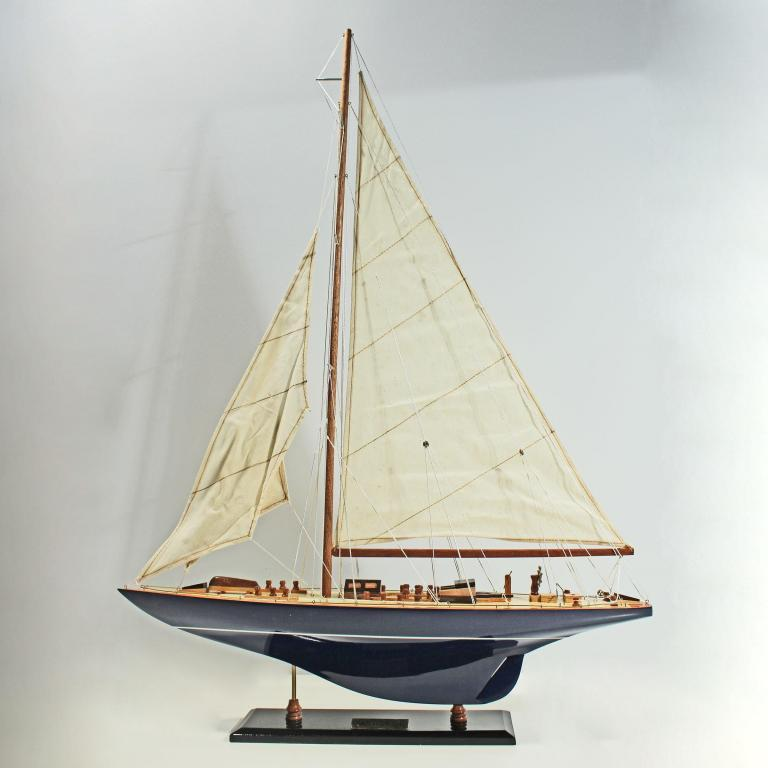 Handcrafted sailing ship model of the Endeavour