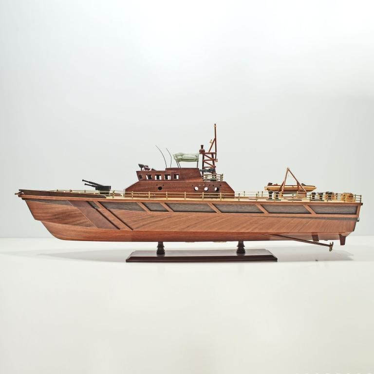 Handcrafted sailing ship model of ther Patrol