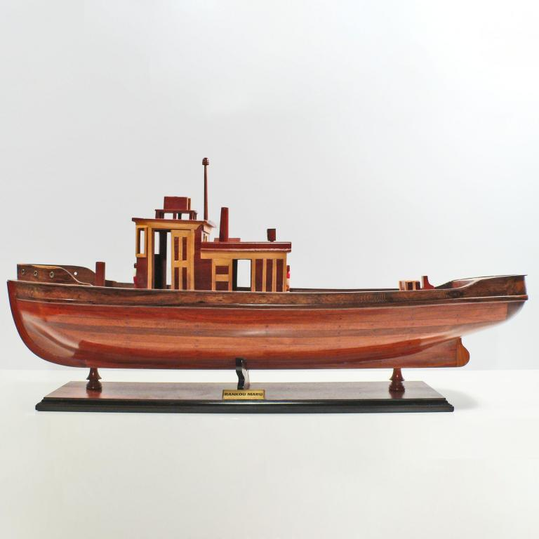 Handcrafted ship model from wood of the Rankou Maru