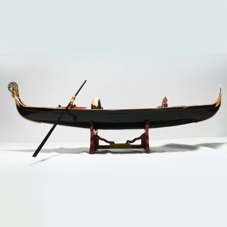 Handcrafted ship model from wood of a venetian gondola