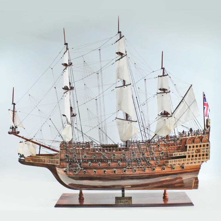 Handmade historical sailing ship model of the Sovereign of the Seas