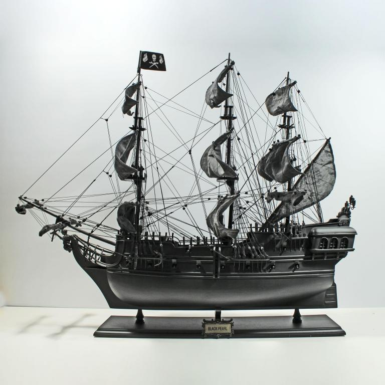 Handmade historical sailing ship model of the Black Pearl