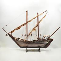 Handmade historical sailing ship model of the Dhow