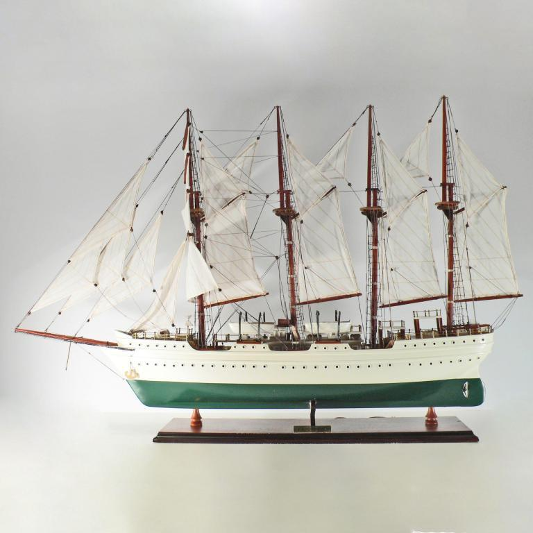 Handmade historical sailing ship model of the El Canoe