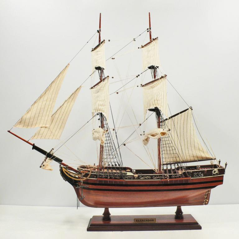 Handmade historical sailing ship model of the Elcazador