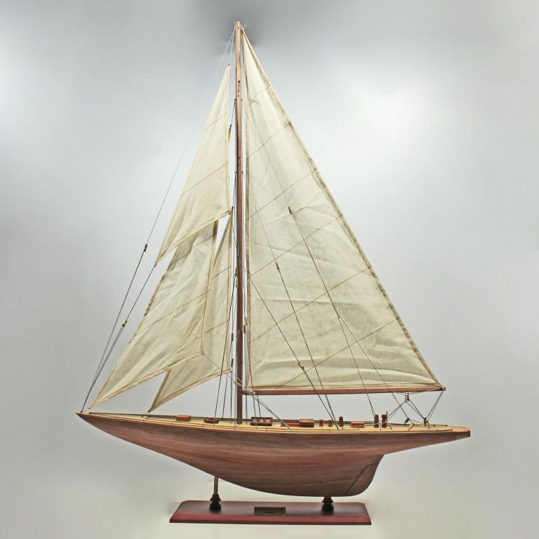 Handcrafted sailing ship model of the Enterprise