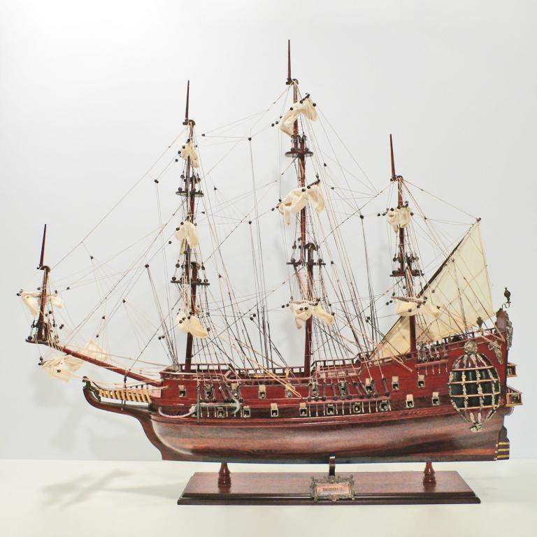 Handmade historical sailing ship model of the Fairfax
