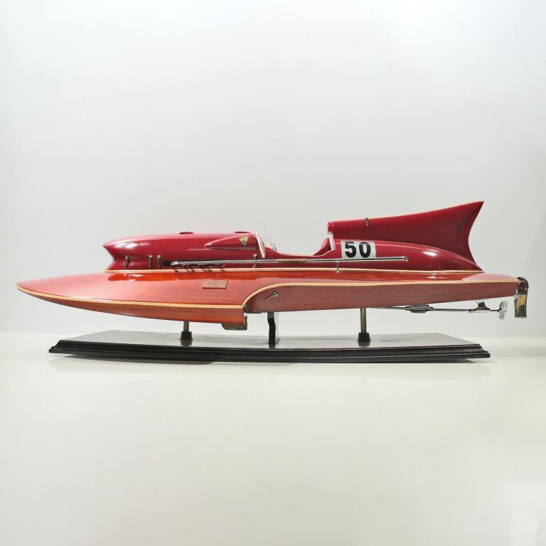 Handmade historical sailing ship model of the Ferrari Hydroplanes