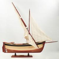 Handcrafted sailing ship model of the Filuche