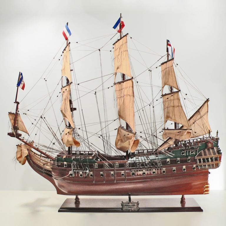 Handmade historical sailing ship model of the Friesland