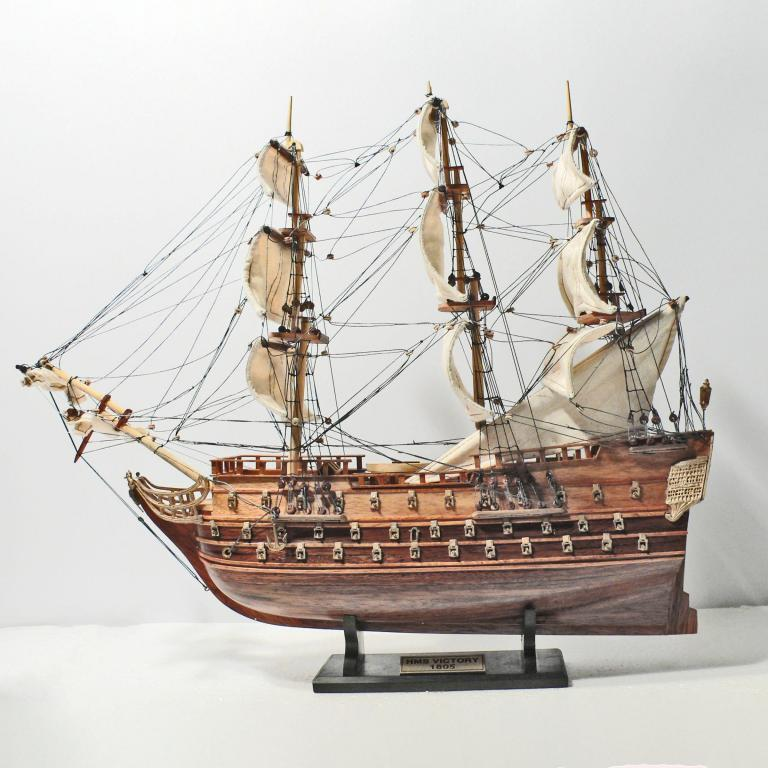 Handmade historical sailing ship model of the HMS Victory 40cm