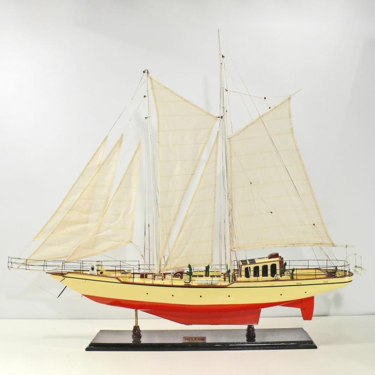 Handcrafted sailing ship model of the Helena