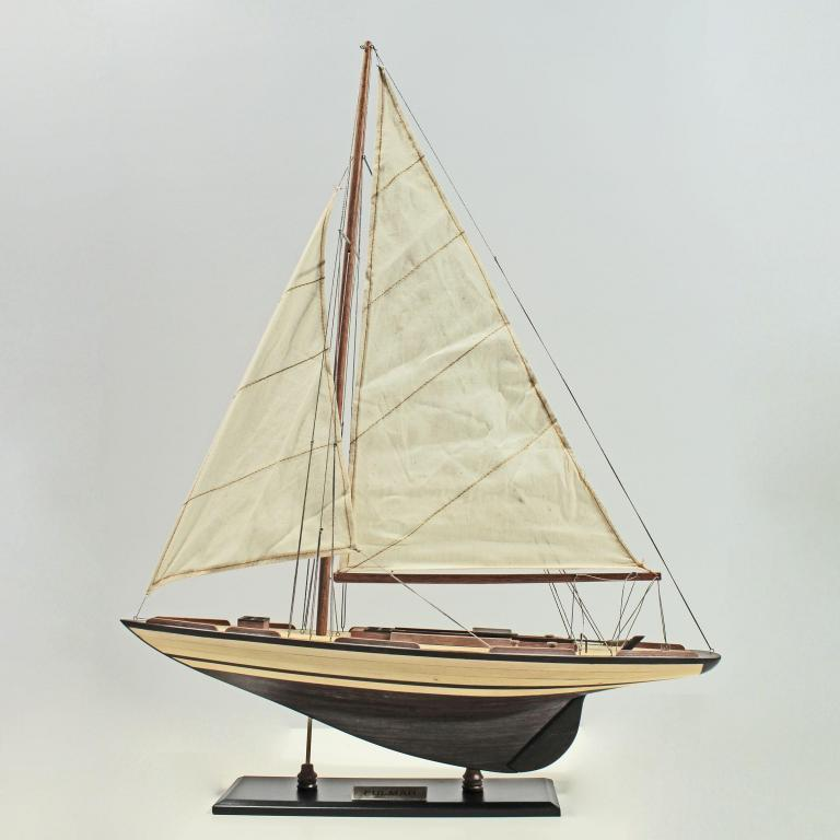 Handcrafted sailing ship model of the Fulmar