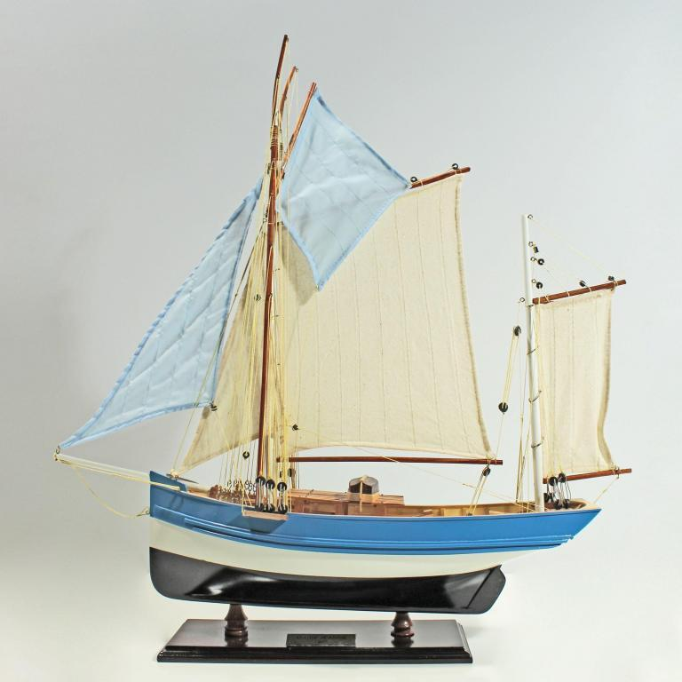 Handcrafted sailing ship model of the Marie Clarisse