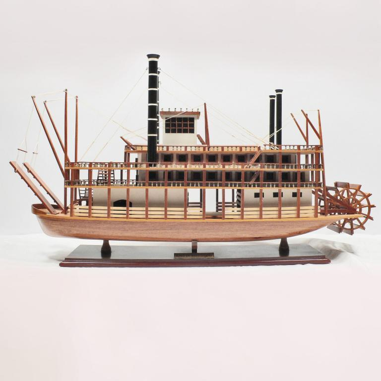 Handmade wooden cruise ship model of the King of Mississippi