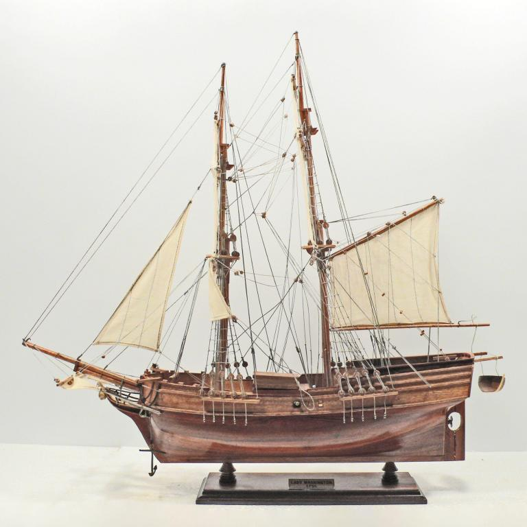 Handmade historical sailing ship model of the Lady of Washington
