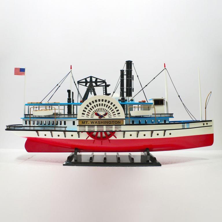 Handmade wooden cruise ship model of the MT Washington