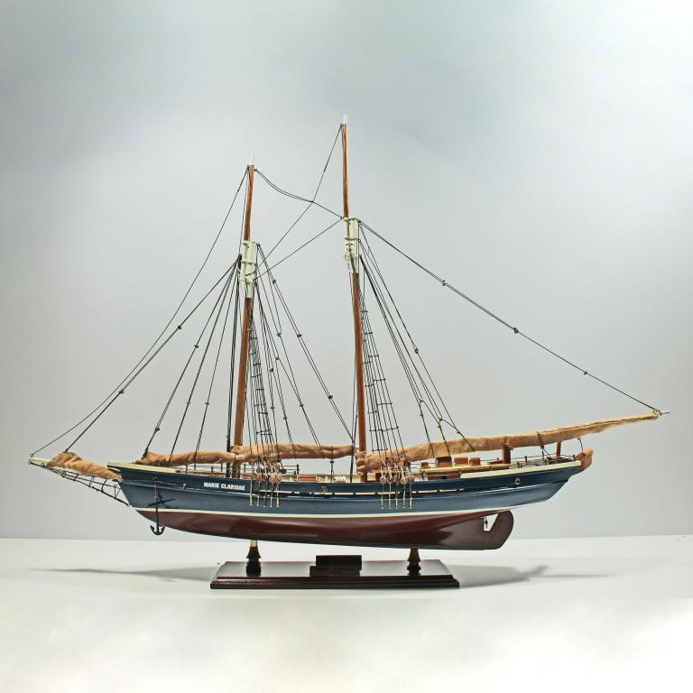 Handcrafted ship model from wood of the Marie Clarise