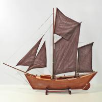 Handcrafted ship model from wood of the Maria