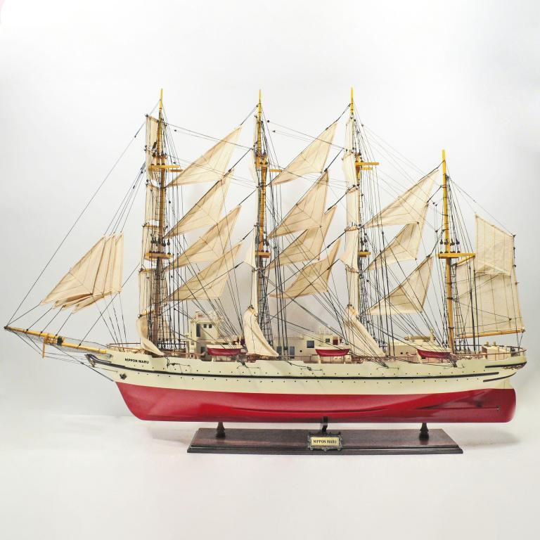 Handmade historical sailing ship model of the Nippon Maru