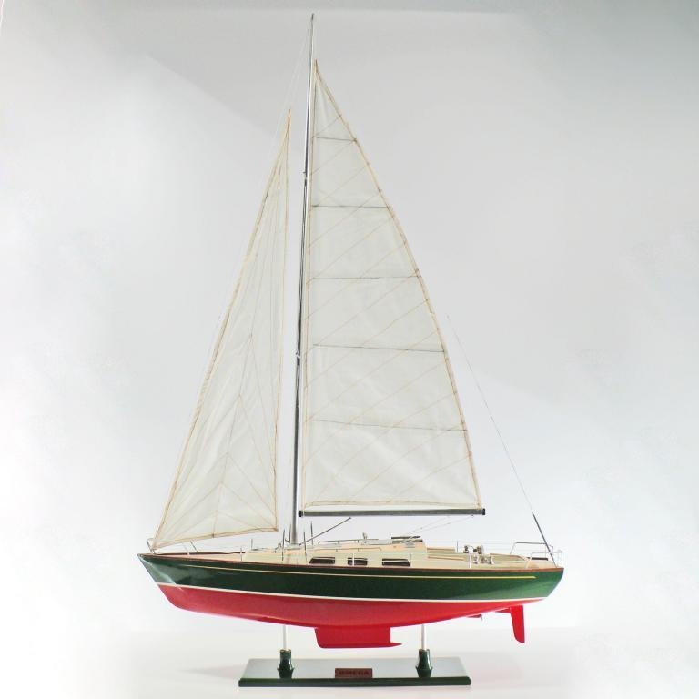 Handcrafted sailing ship model of the Omega