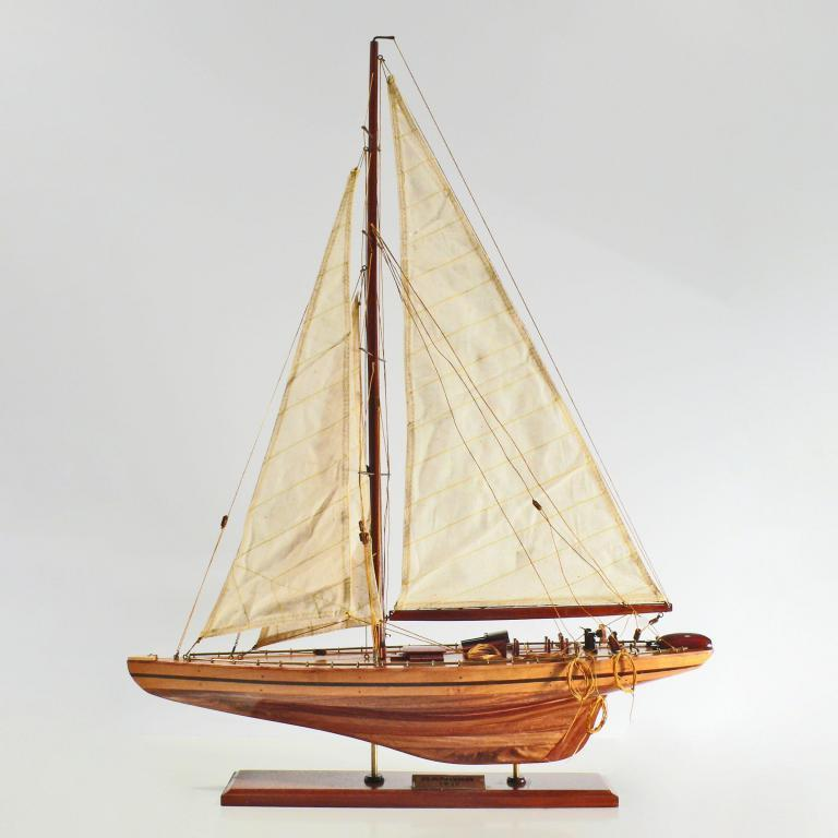 Handcrafted sailing ship model of the Ranger