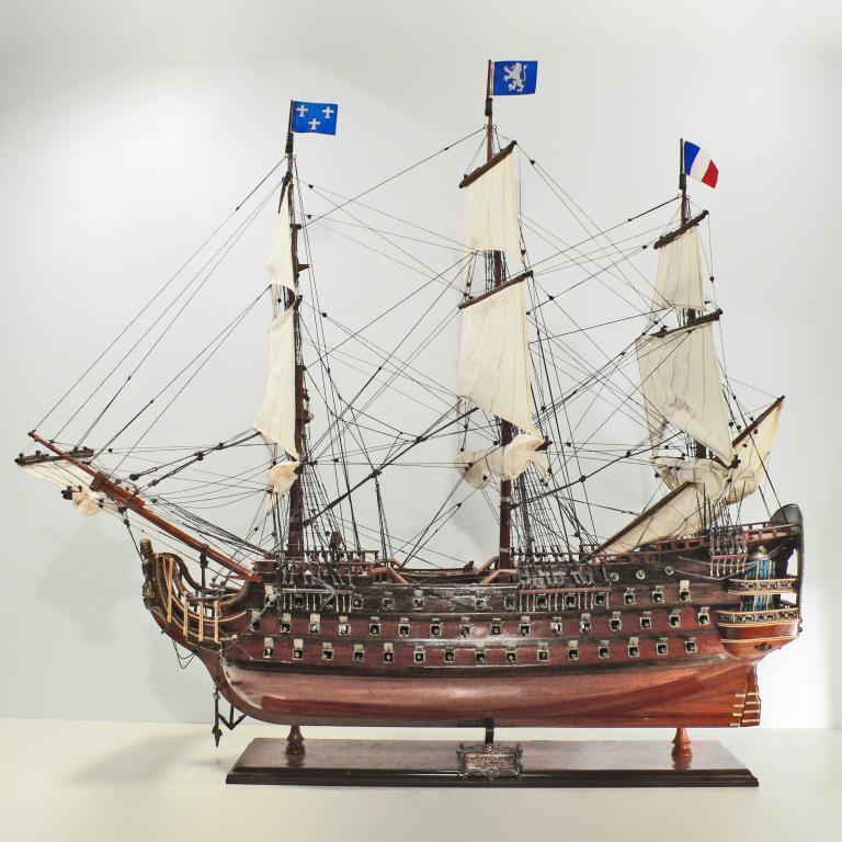 Handmade historical sailing ship model of the Royal Luis