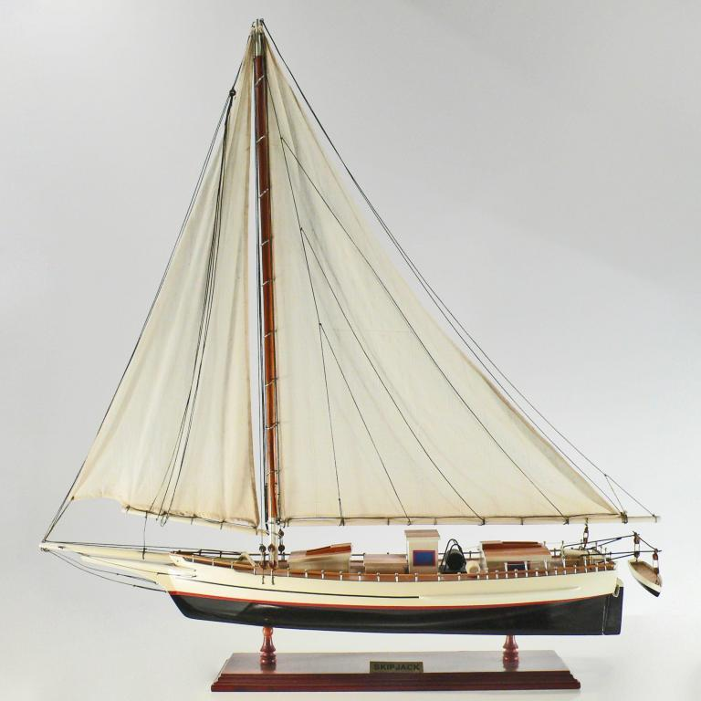 Handmade historical sailing ship model of the Skip Jack