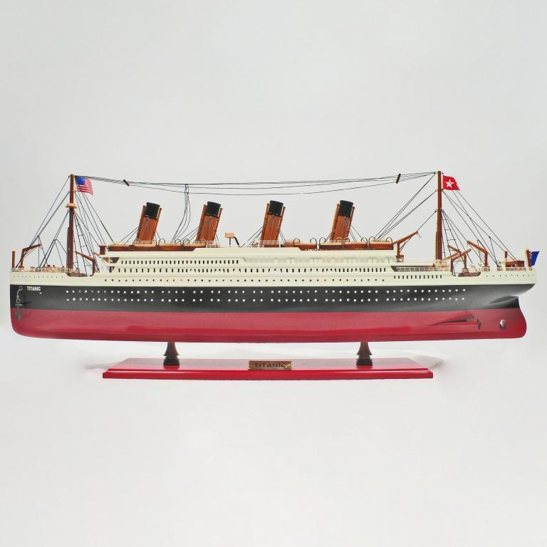 Handmade wooden cruise ship model of the Titanic
