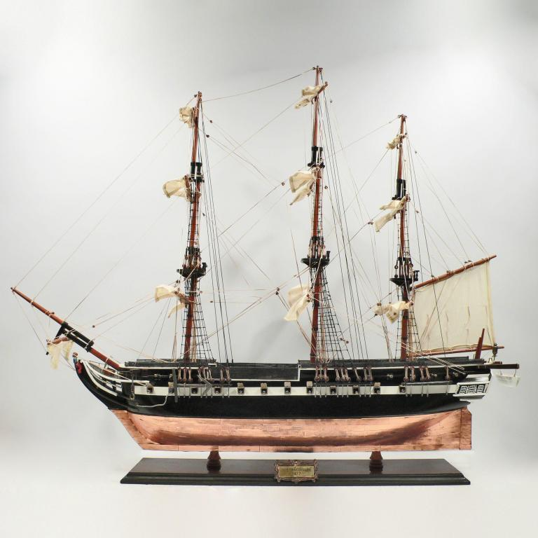 Handmade historical sailing ship model of the Trinomalee
