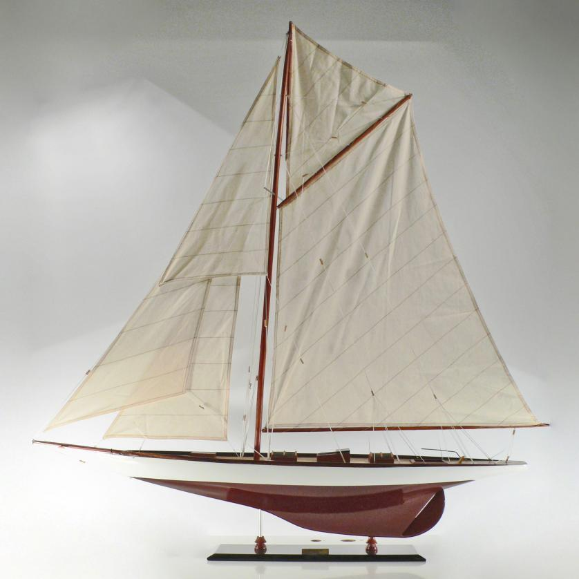 Handcrafted sailing ship model of the Tuiga