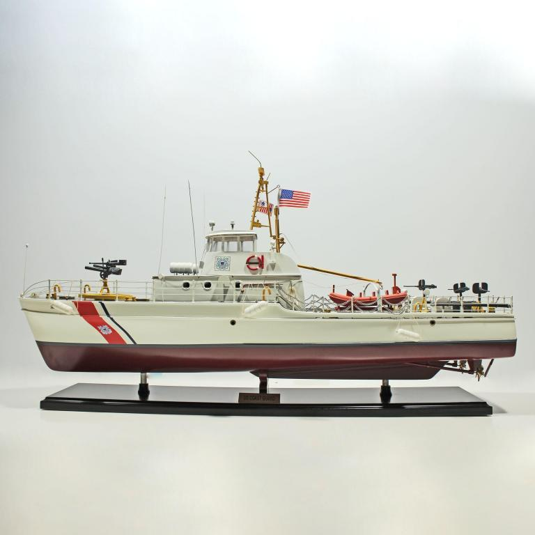 Handcrafted sailing ship model of the US Coast Guard
