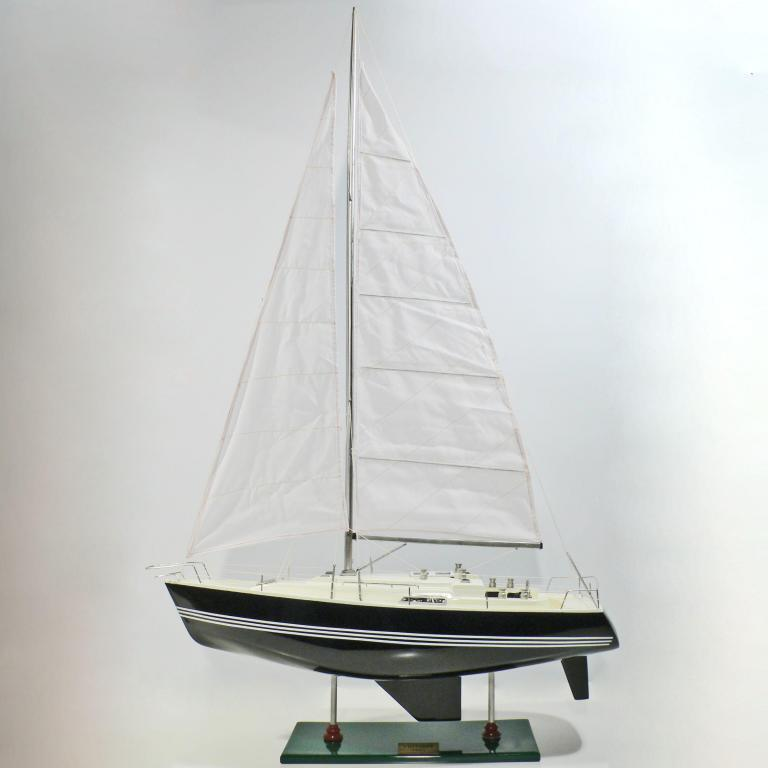 Handcrafted sailing ship model of the Victory