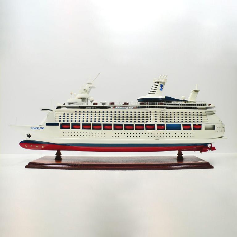 Handcrafted sailing ship model of the Voyager of the Seas