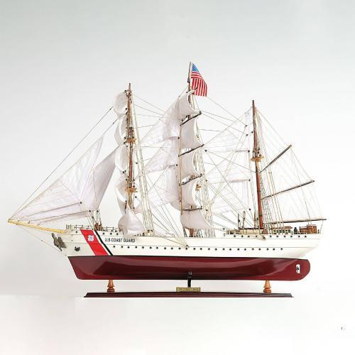 Handmade historical sailing ship model of the USGC Eagle