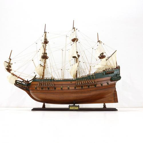 Handmade historical sailing ship model of the Batavia