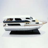 Handcrafted ship model from wood of the Livaboard