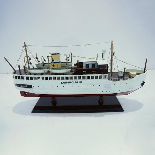Handcrafted ship model from wood of the Korsholm